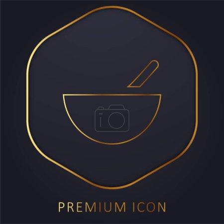 Illustration pour Bol ligne d'or logo premium ou icône - image libre de droit