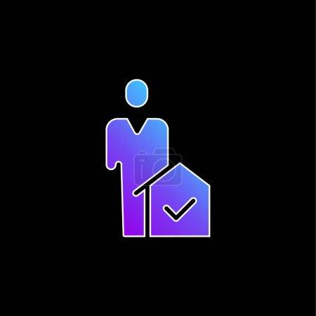 Illustration pour Icône vectorielle de dégradé bleu agent - image libre de droit