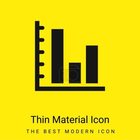 Illustration pour Bars Graphic Of Business Stats icône matérielle jaune vif minimale - image libre de droit