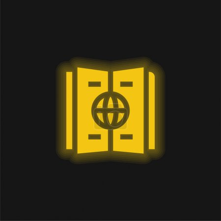 Atlas yellow glowing neon icon
