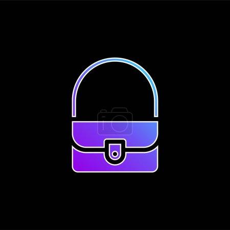 Illustration pour Sac icône vectorielle dégradé bleu - image libre de droit