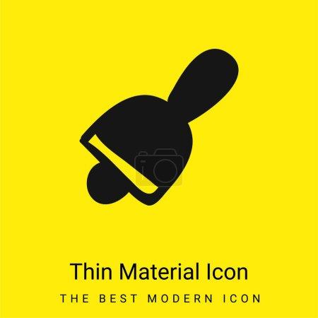 Photo pour Icône matérielle minimale Bell jaune vif - image libre de droit