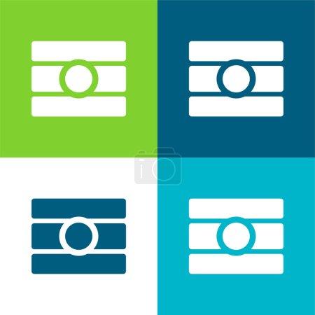 Photo pour Ensemble d'icônes minimal quatre couleurs Bindi Flat - image libre de droit