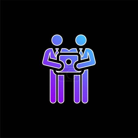 Illustration pour Brainstorming icône vectorielle dégradé bleu - image libre de droit