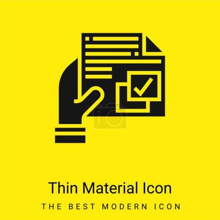 Illustration pour Accord minimal jaune vif icône matérielle - image libre de droit