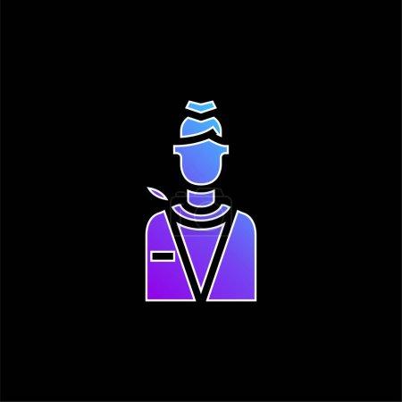 Photo pour Air Hôtesse bleu dégradé vecteur icône - image libre de droit