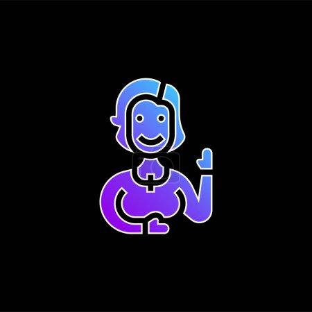 Illustration pour Tante bleu gradient vecteur icône - image libre de droit