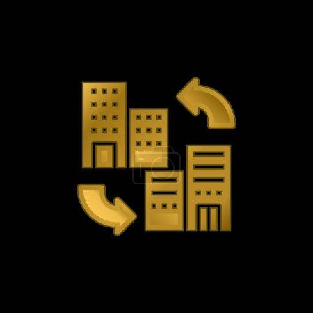 Illustration pour Icône métallique plaqué or B2b ou vecteur de logo - image libre de droit