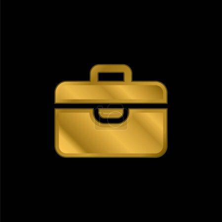 Photo pour Porte-documents plaqué or icône métallique ou logo vecteur - image libre de droit