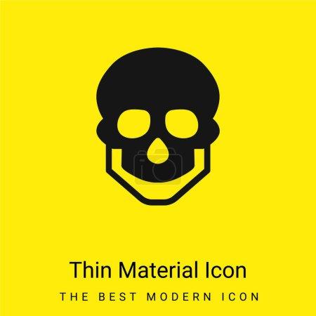 Foto de Gran cráneo mínimo icono de material amarillo brillante - Imagen libre de derechos