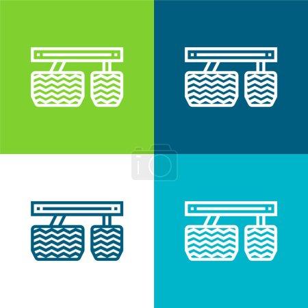 Illustration pour Accélérateur Ensemble d'icônes minimal plat quatre couleurs - image libre de droit