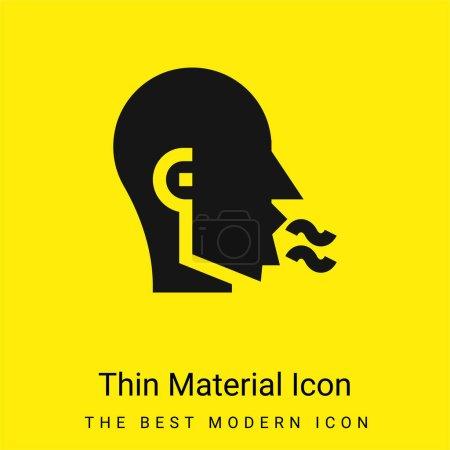Illustration pour Icône matérielle jaune vif minimale Bad Breath - image libre de droit