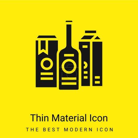 Illustration pour Marque minimale icône de matériau jaune vif - image libre de droit