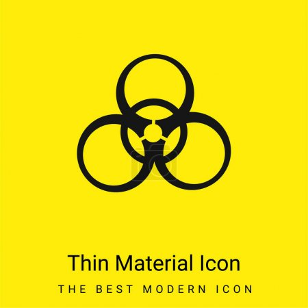 Photo for Alert minimal bright yellow material icon - Royalty Free Image