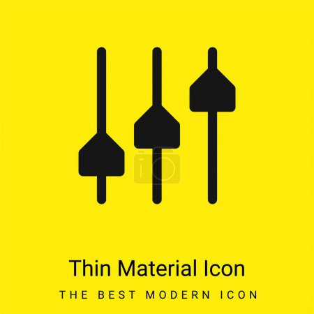 Minimale hellgelbe Materialsymbole anpassen