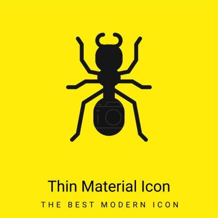 Illustration pour Ant minime icône matériau jaune vif - image libre de droit