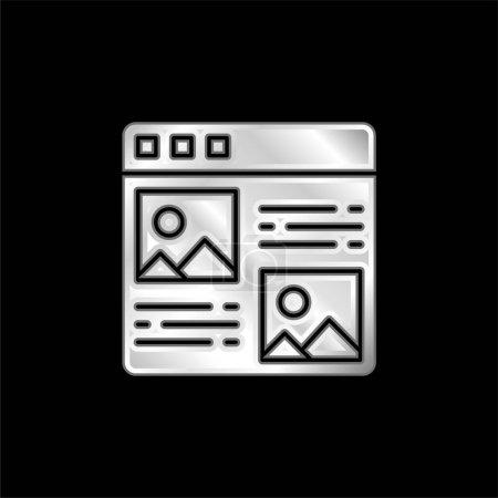 Illustration pour Article icône métallique argentée - image libre de droit