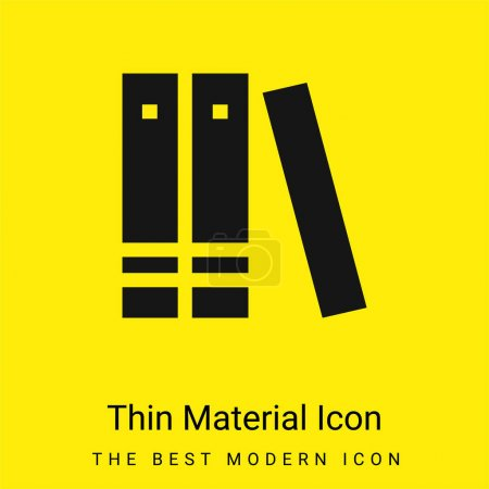 Illustration for Book minimal bright yellow material icon - Royalty Free Image