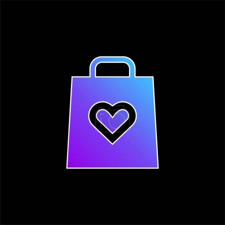 Illustration pour Icône vectorielle dégradé bleu anniversaire - image libre de droit