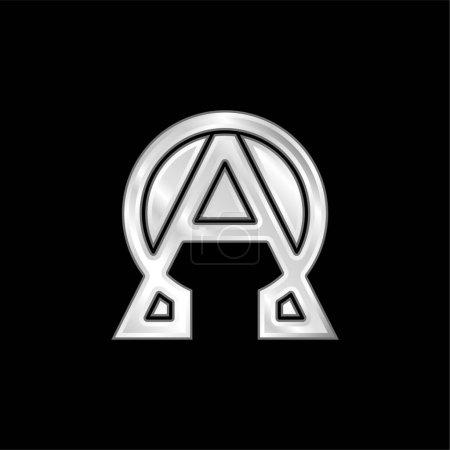 Photo pour Alpha et Omega argent plaqué icône métallique - image libre de droit