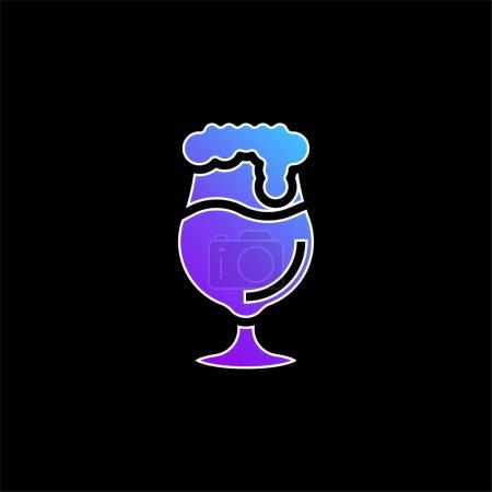 Illustration pour Icône vectorielle dégradé bleu bière - image libre de droit