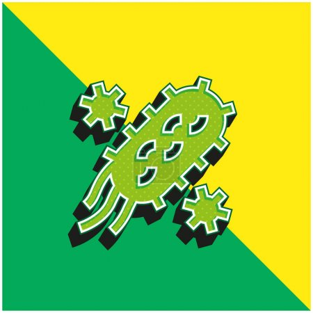 Illustration for Bacteria Green and yellow modern 3d vector icon logo - Royalty Free Image