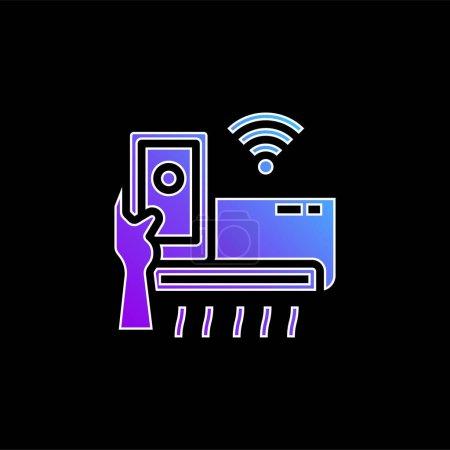 Klimaanlage blaues Gradienten-Vektor-Symbol