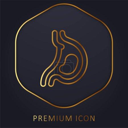 Illustration for Acid golden line premium logo or icon - Royalty Free Image