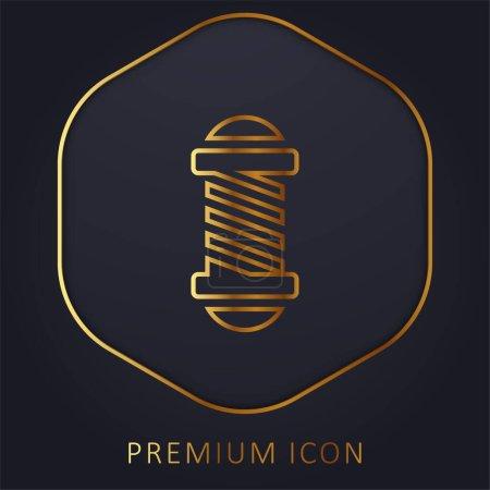 Photo pour Salon de beauté ligne d'or logo premium ou icône - image libre de droit