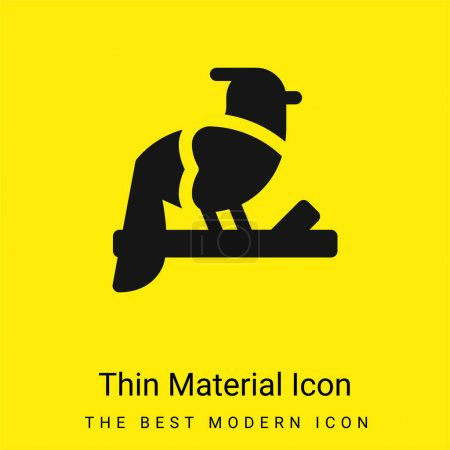 Photo for Bird minimal bright yellow material icon - Royalty Free Image