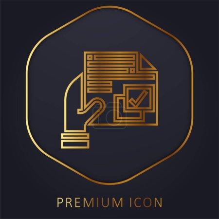 Illustration pour Accord ligne d'or logo premium ou icône - image libre de droit