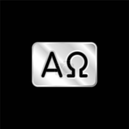 Photo for Alpha And Omega silver plated metallic icon - Royalty Free Image