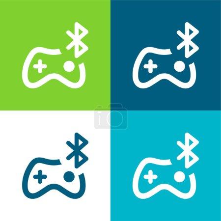 Bluetooth Flat four color minimal icon set