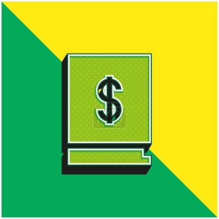 Illustration pour Livre vert et jaune moderne icône vectorielle 3d logo - image libre de droit
