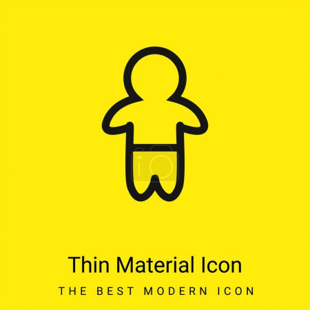 Baby Standing Outline With Pants minimal bright yellow material icon