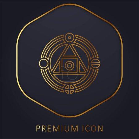 Illustration pour Alchimie ligne d'or logo premium ou icône - image libre de droit