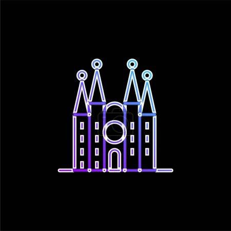 Barcelona blue gradient vector icon