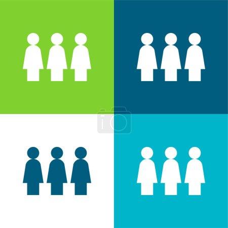 Activism Flat four color minimal icon set