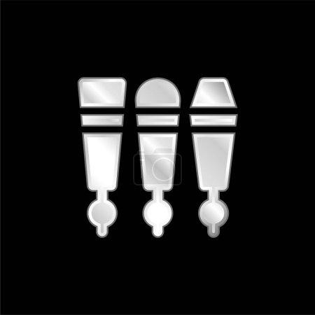 Illustration pour Robinet à bière icône métallique argentée - image libre de droit