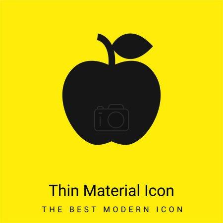 Apple minimal bright yellow material icon