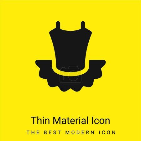 Ballet minimal bright yellow material icon