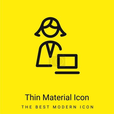 Illustration pour Administrateur minime icône matérielle jaune vif - image libre de droit