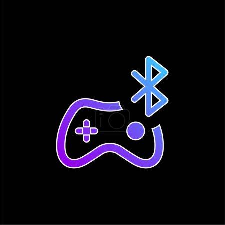 Bluetooth blue gradient vector icon