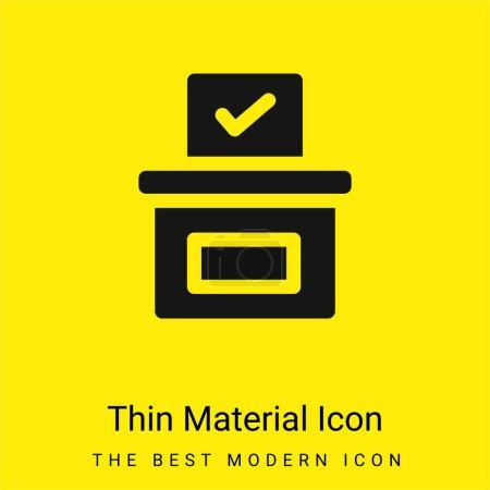 Illustration pour Icône matérielle jaune vif minimale de l'urne - image libre de droit