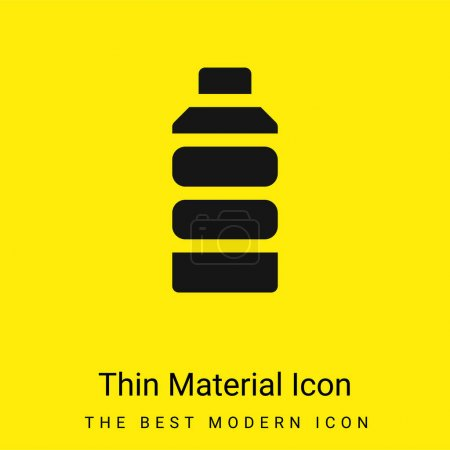 Illustration for Bottle minimal bright yellow material icon - Royalty Free Image