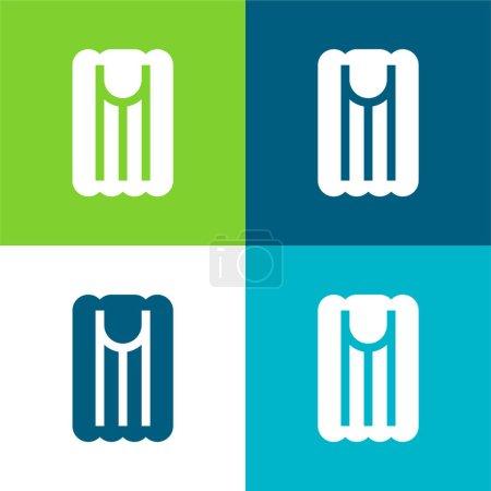 Air Materac płaski czterech kolorów minimalny zestaw ikon