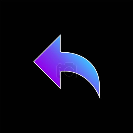 Illustration for Arrow blue gradient vector icon - Royalty Free Image