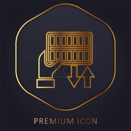 Illustration pour Filtre à air ligne d'or logo premium ou icône - image libre de droit