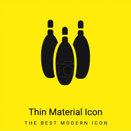 Bowling Pins minimales leuchtend gelbes Material Symbol