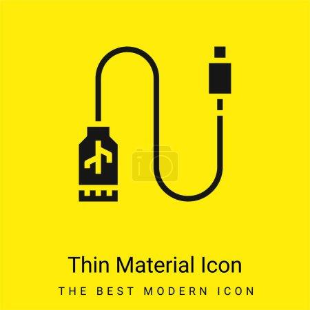 Photo pour Adaptateur minimal jaune vif icône matérielle - image libre de droit